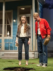 """Anne-Marie Trabolsi and Andrew Cutler in """"We're Gonna Be Okay"""" by Basil Kreimendahl, part of the 2017 Humana Festival of New American Plays at Actors Theatre of Louisville."""