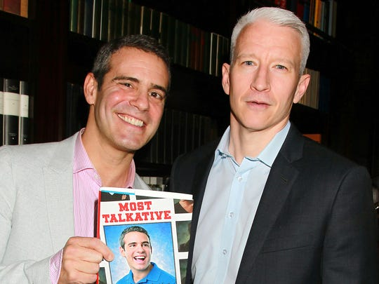 Andy Cohen (left) and Anderson Cooper bring their AC2 to the Murat Theatre on March 10.