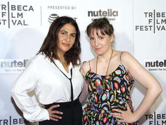 Jenni Konner, left, and Lena Dunham are the women behind