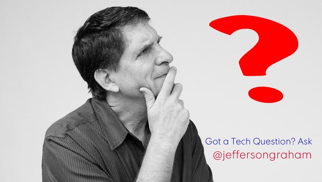 Send your tech questions to @jeffersongraham on Twitter.