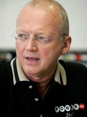 In this June 10, 2005 file photo, Charles Strutt, executive director of the Multi-State Lottery Association, speaks during an interview in Des Moines, Iowa.