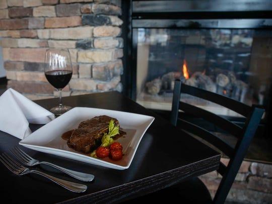 Iowa-raised 45-day dry-aged shell steak with Fernet-Branca