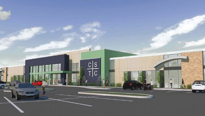 A rendering shows the Cool Springs Technology Center, which is planned to replace A-Game Sportsplex in Franklin.