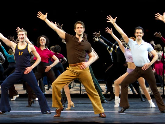The cast of the national tour of 'A Chorus Line' was