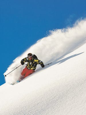 """Jonny Moseley is seen skiing in British Columbia in the 2010 Warren Miller film """"Wintervention."""""""