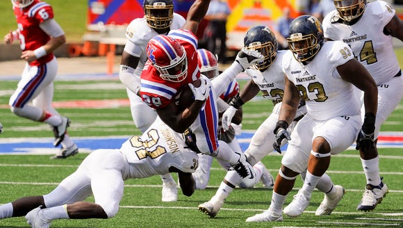 Louisiana Tech running back Kenneth Dixon missed Wednesday's