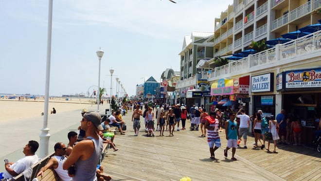 The Ocean City Boardwalk remains busy during the summer season.