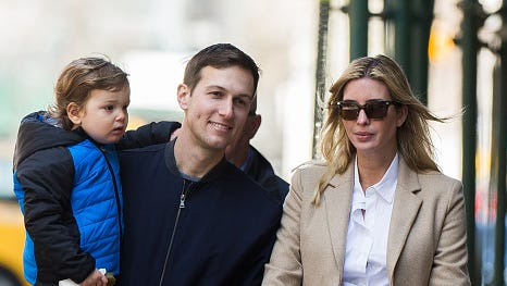 Ivanka Trump and Jared Kushner are seen on March 26, 2016 in New York City.  (Photo by Tal Rubin/GC Images)