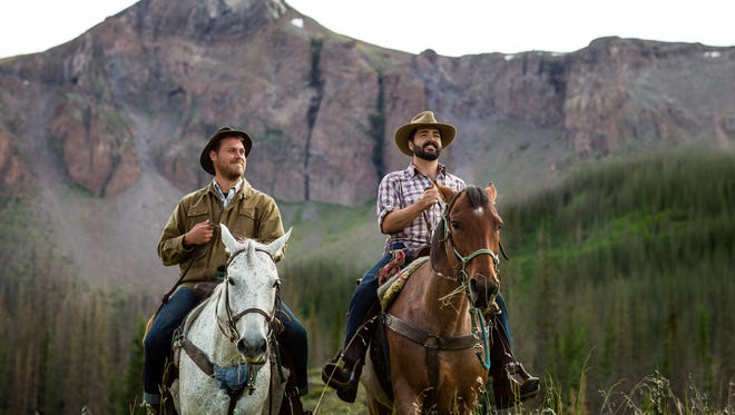"""Joe Mailander, left, and Justin Lansing traveled to the west for their album, """"Saddle Up."""""""