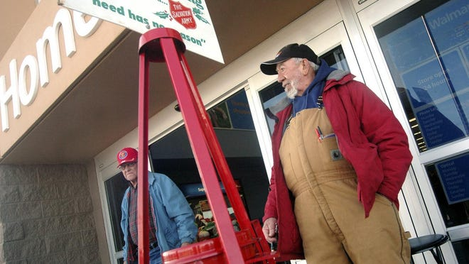 Bell ringing for the Salvation Army was able to get off to an early start this year.