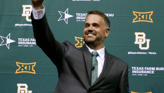 Baylor Introduces Matt Rhule As Coach In Campus Celebration