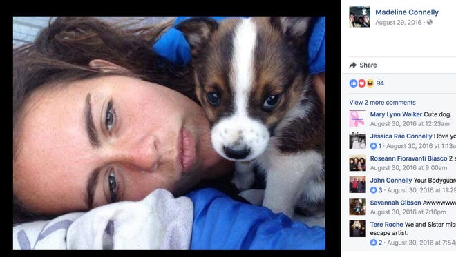 Madeline Connelly and dog Mogie became lost during a hike May 4. Six days later, she was rescued.