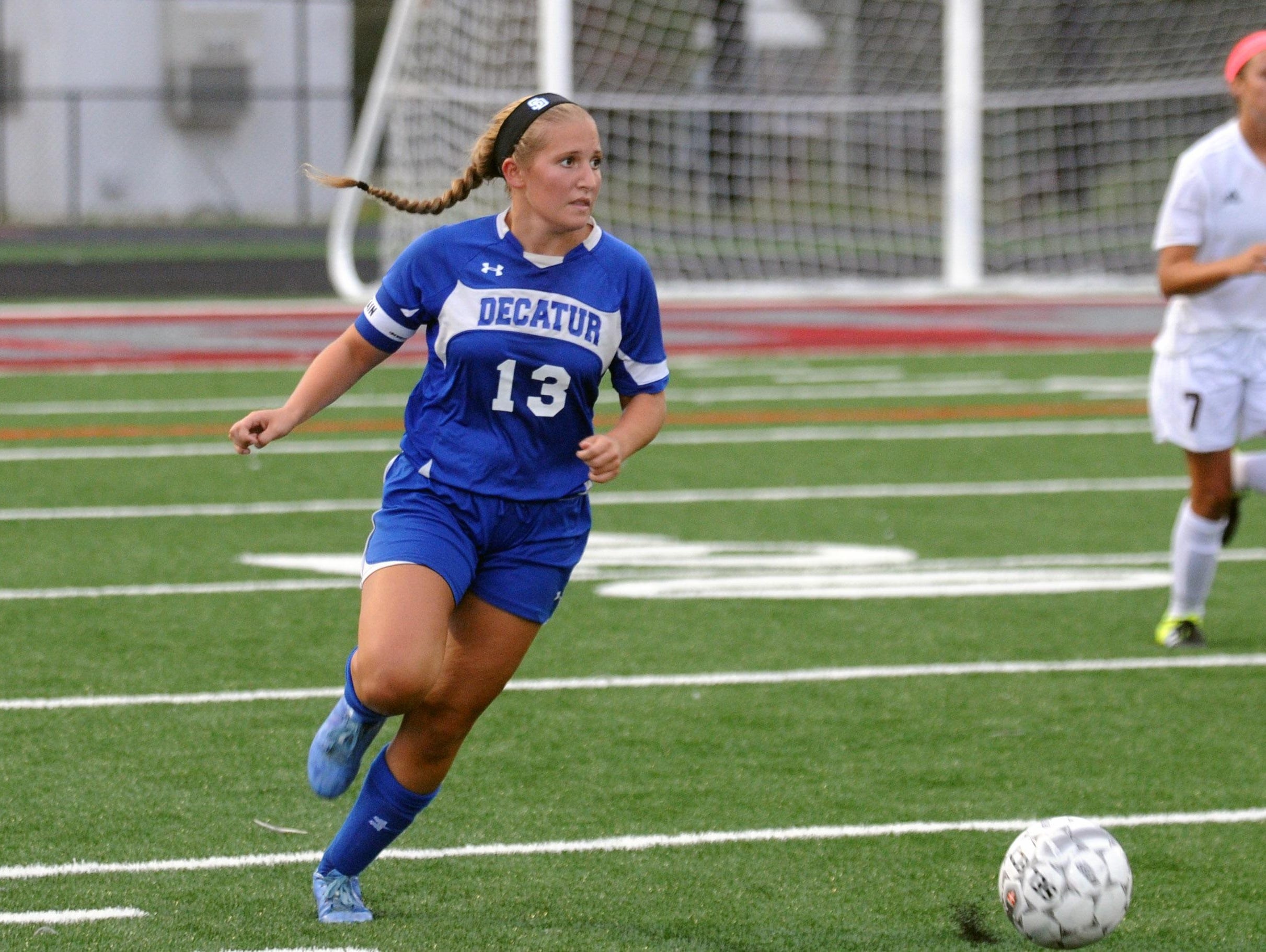 Stephen Decatur senior captain Alexis McDonough works the ball up the field against Snow Hill on Monday. Wherever and whenever is were McDonough plays for the Seahawks.