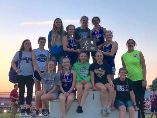 The Mount Gilead girls track team won a Division III