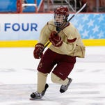Boston College's Johnny Gaudreau is a finalist for the Hobey Baker.