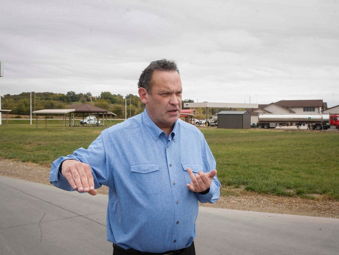 Mark Hubble, CEO of Meskwaki, Inc., shows the grounds
