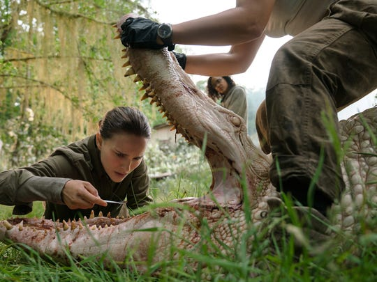 A biologist (Natalie Portman) investigates a mutated alligator in 'Annihilation.'
