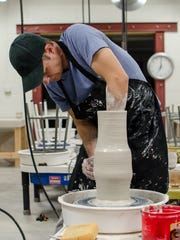 """Hot Glass Cold Brew"" event at First City Art Center"