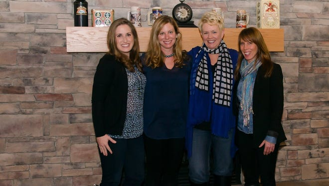 """""""Night of Giving: Brockport for Pierson"""" organizers, from left: Danielle Mesiti, Caurie Putnam, Lisa Ireland and Tamara Barrus."""