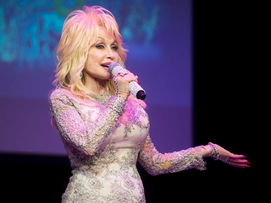 Dolly Parton speaks about Dollywood's Smoky Mountain Christmas and the park's 2018 season during a media event at Dollywood on Friday, Nov. 3, 2017.