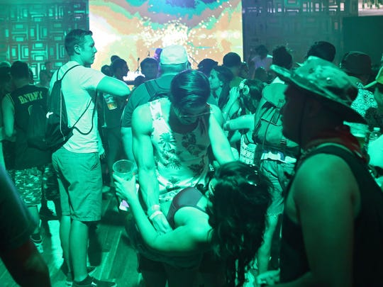 Music fans enjoy themselves on Friday during the first day of weekend two at the Coachella Music and Arts Festival.