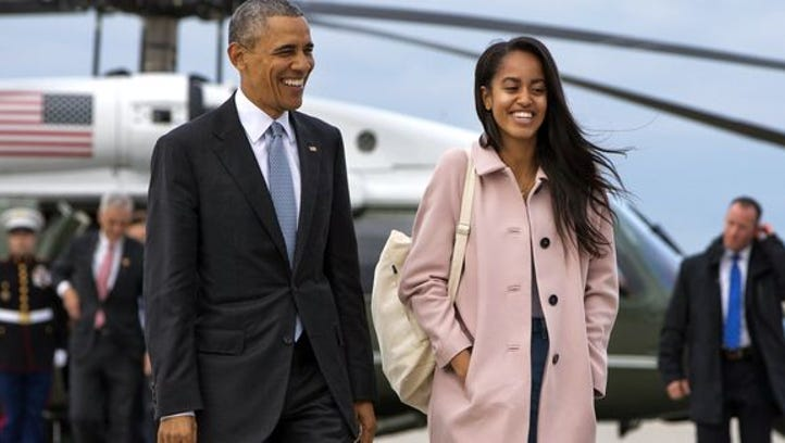 President Obama and Malia Obama