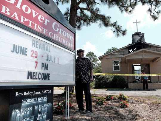 Glover Grove Baptist Church Pastor Bobby Jones stands