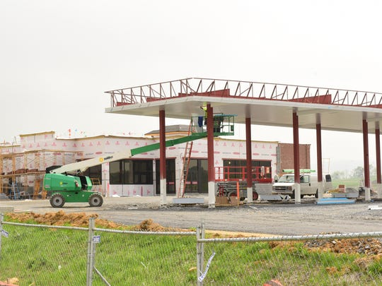 A Sheetz is under construction at Interstate 81 Exit 24, but problems have developed for building a large distribution warehouse behind the convenience store in the United Business Park.