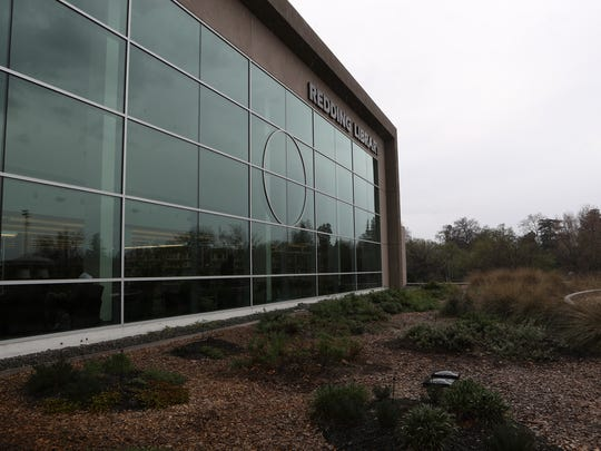 A rooftop garden is one of the features at the Redding Library.