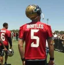 Blake Bortles enters practice