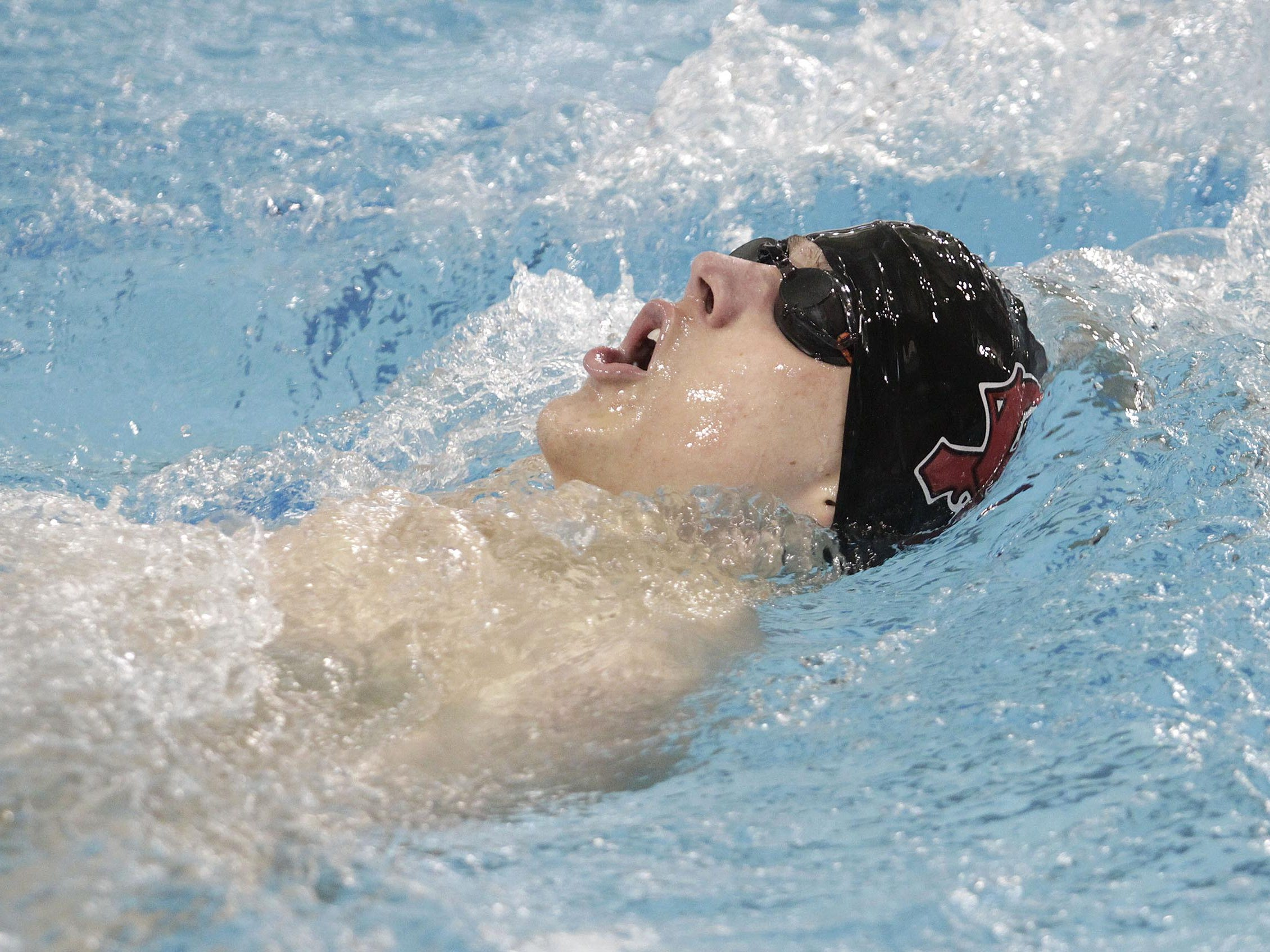 Oak Hills' Jared Cox finishes third in his heat during the 400-yard individual medley with a time of 4:50.94 at the Southwest Ohio Classic last season