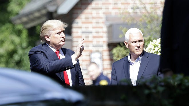 Donald Trump and Gov. Mike Pence met for breakfast at the governor's mansion last week.