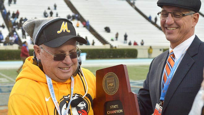 Murphy football coach David Gentry won his seventh career state championship in December.