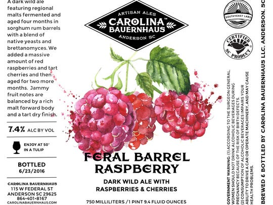 The Feral Barrel Raspberry was one of Carolina Bauernhaus Ales most popular releases.