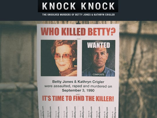 "A flier for the podcast ""Knock Knock,"" in which presenter Jason B. Jones investigates the unsolved murder of his grandmother Betty Jones and her friend Kathryn Crigler. The women were killed by an unknown assailant on Sept. 3, 1990, in Starkville."