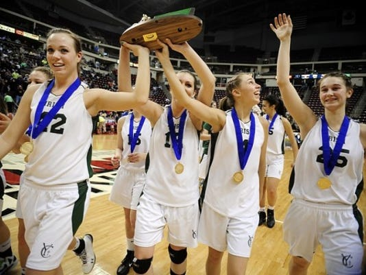 The York Catholic girls won a record seventh straight District 3-AA championship Thursday.