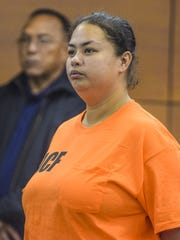Crissy Jean Manley, 31, appears before Judge Alberto