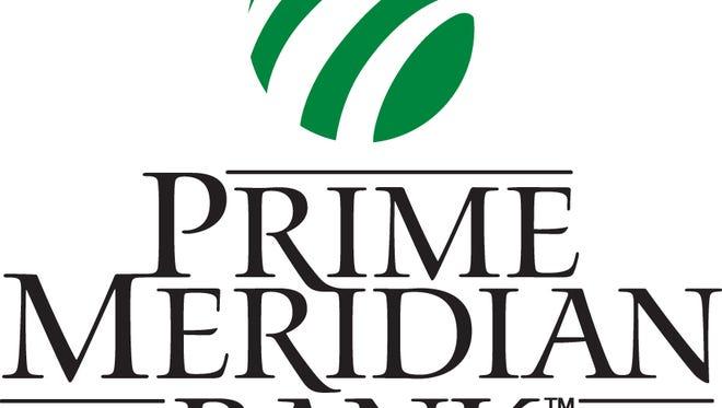 Prime Meridian Bank logo.