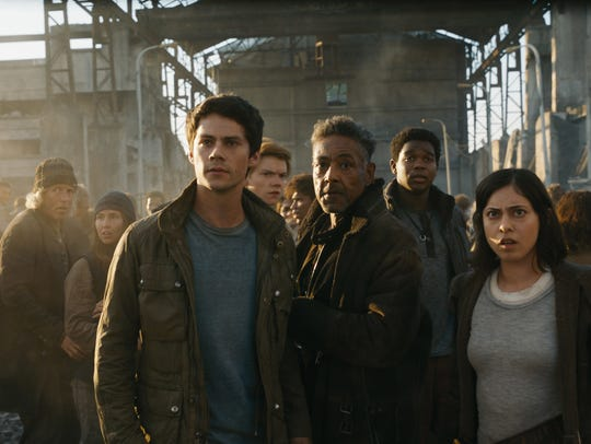 Dylan O'Brien, Giancarlo Esposito and Rosa Salazar