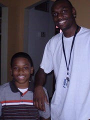 Terrell Blue, 11, and Terence Daniels on Aug. 18, 2009