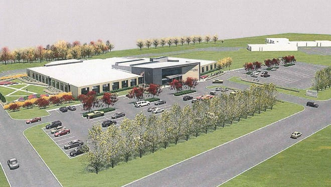 An artist rendition of what the new CentraCare Health-Long Prairie medical campus will look like. Groundbreaking for the $30.8 million, 65,000-square-foot facility is scheduled for May 9.
