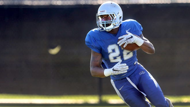 MTSU's Brian Kimbrow is making a transition from running back to receiver.