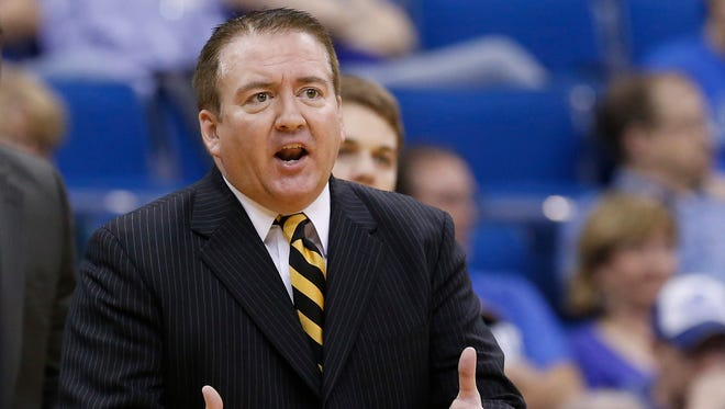 This is a 2013 photo of then-Southern Miss head coach Donnie Tyndall.