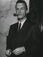 Hugh Hefner, publisher of Playboy magazine, appears