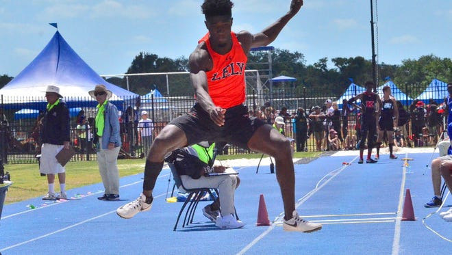 Lely High School's Marc Noel finished third in the 2A triple jump at the state meet on Saturday, May 6, 2017, at IMG Academy in Bradenton.
