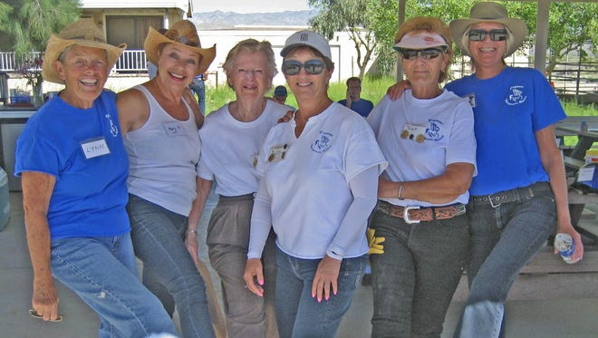 Pegasus volunteers Lynn Holm, Mary Haas, Leota Green, Judy Slapin, Dar Bjork and Sally Buchignani