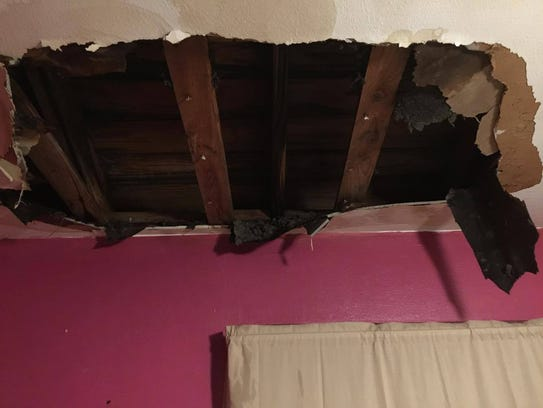 What Detrice Jacobs' ceiling looked like for more than