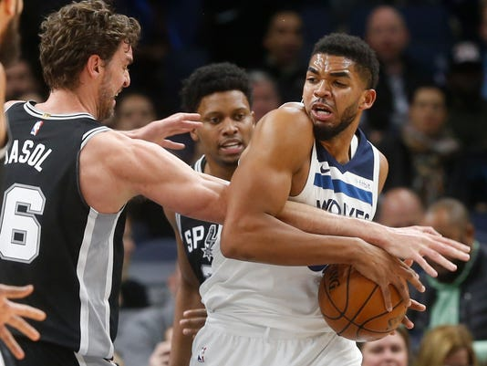 Image result for karl anthony towns spurs usa today