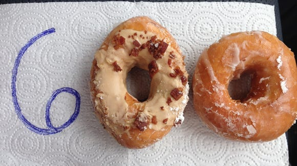 Vanessa Junkin celebrates running 600 miles so far in 2014 with this doughnut photo.