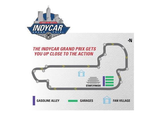 Gasoline Alley and the IndyCar garages are open to